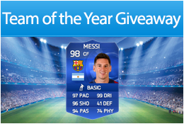 TOTY Messi Giveaway